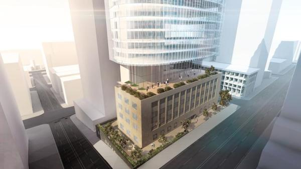 Martin Selig plans to keep the historic Federal Reserve Bank as the base and building a 29-story glass office tower over the top.