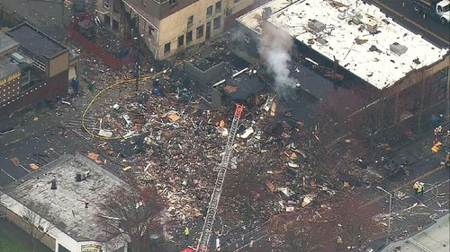 Greenwood after the explosion. Credit: KOMO 4