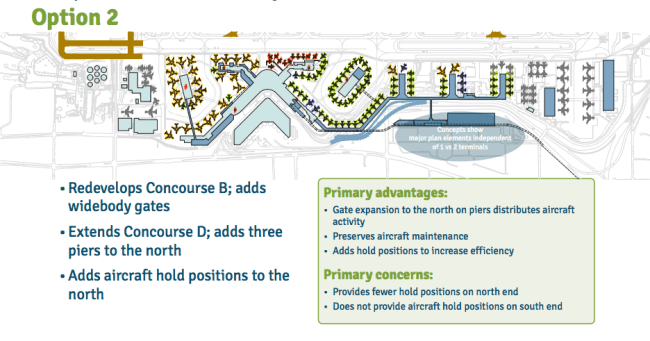 Option 2 for terminal expansion. (Port of Seattle)
