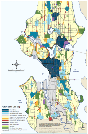 New Future Land Use Map. Click for larger version. (City of Seattle)