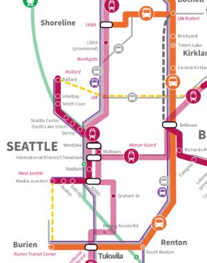 Sound Transit 3 Draft Plan for Seattle. (Sound Transit)