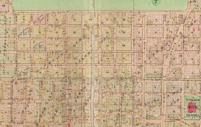 Clipping from 1912 Baist Map of Seattle. (Seattle Archives)