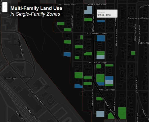 Multi-family housing in Queen Anne single-family zones. (Jeffrey Linn)