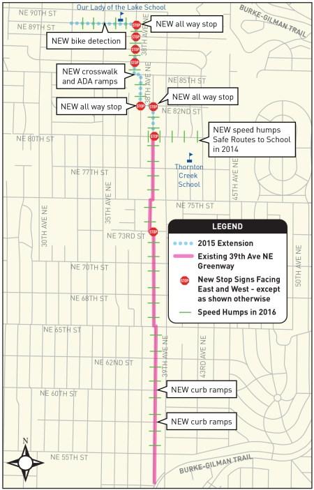 39th Ave NE Greenway corridor improvements. (City of Seattle)