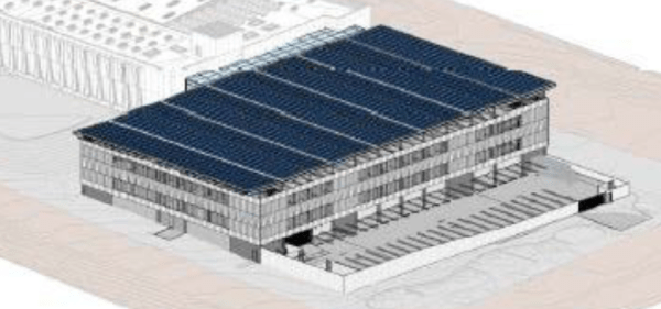 The current planned North Precinct parking garage. (City of Seattle)