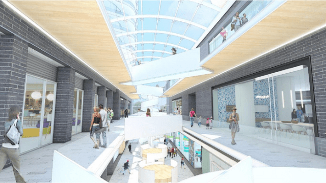 The Galleria has the potential to provide a great pedestrian space in place of the existing alley. (Henriquez Architects)