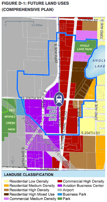 SeaTac's Comprehensive Plan calls for the intensity of use to get a bit higher than existing zoning. (City of SeaTac)