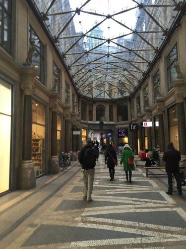 Inside an arcade in Copenhagen.