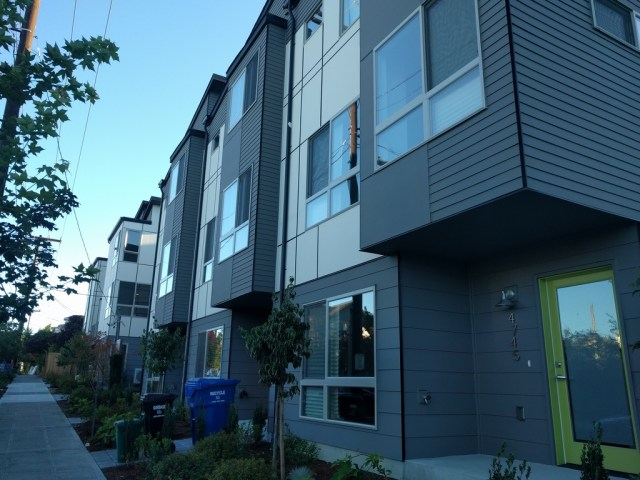 A new project in South Seattle is advertised at 659,000 per unit.