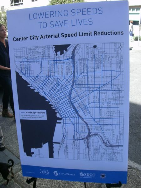 The center city streets shown will go to 25 MPH. (Photo by the author)