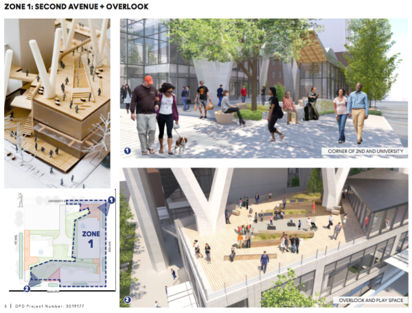 What some of the public space would look like. (City of Seattle / Pickard Chilton Architects)
