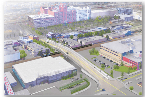 S Lander overpass rendering from recent open house (City of Seattle)