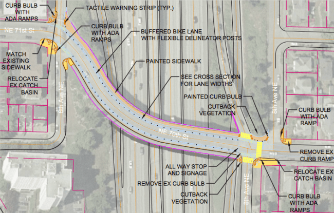 Concept for I-5 and 70th Street improvements. (City of Seattle)