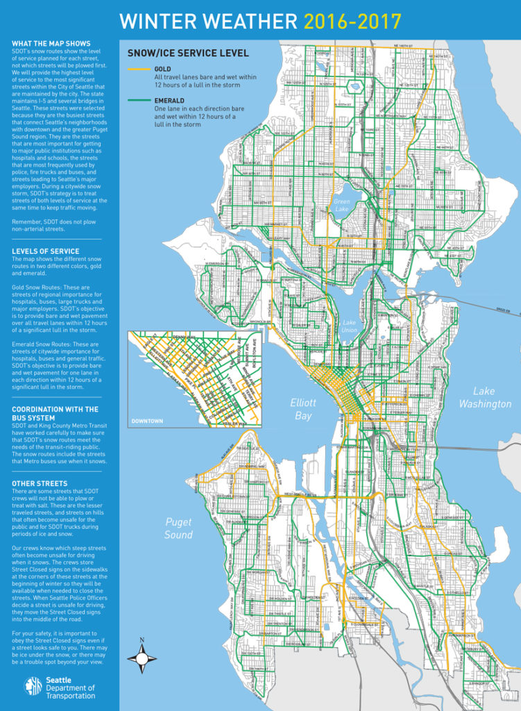 Map Of The Week Seattle Winter Weather Response Map The Urbanist