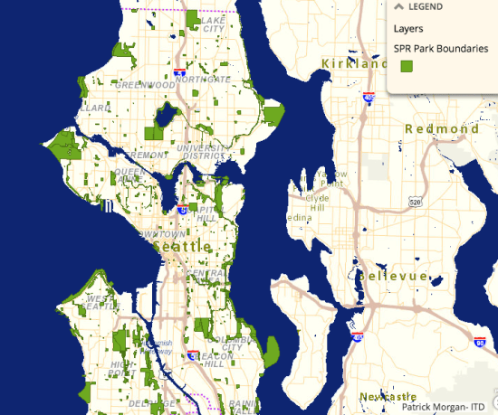 SPR park spaces throughout Seattle. (City of Seattle)