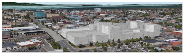 Conceptual rendering of possible TOD on the Lowe's Home Improvement site. (City of Everett)
