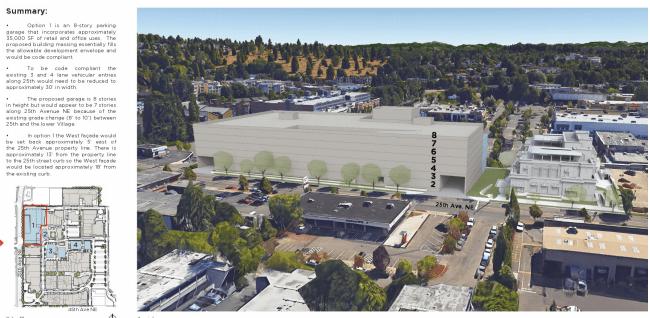 Rendering of University Village's expansion plans near 25th Ave NE. (City of Seattle)