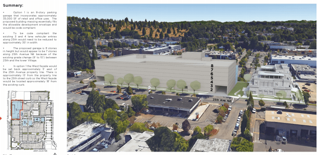 Rendering of University Village's expansion plans near 25th Ave NE. (City of Seattle)