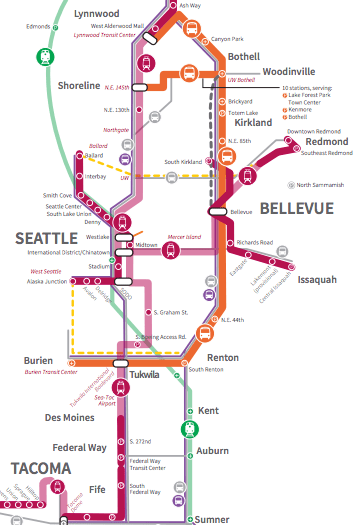 Some of the coming Sound Transit investments across the region. (Sound Transit)