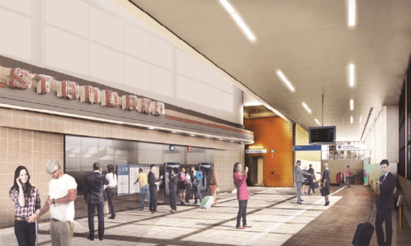 Rendering of the Roosevelt Station lobby. (Sound Transit)