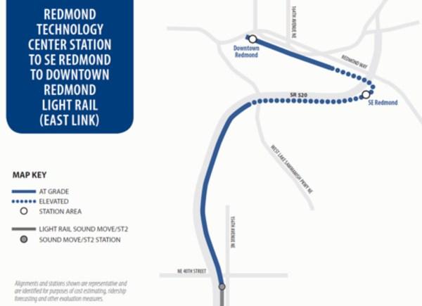 Sound Transit 3 light rail extension of East Link to Downtown Redmond. (Sound Transit)