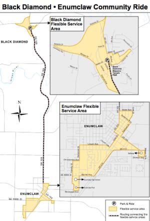 The Black Diamond-Enumclaw service change. (King County)