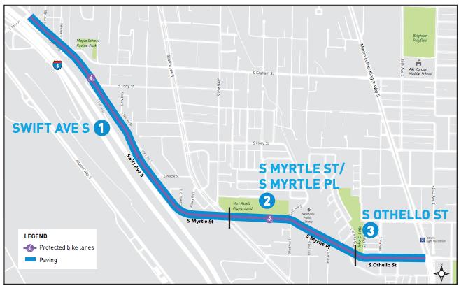 Beacon Hill repaving project corridor. (City of Seattle)