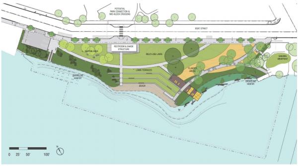 90% design site layout plan. (Walker/Macy / City of Seattle)