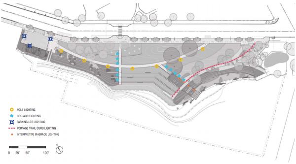 Lighting plan for the site. (Walker/Macy / City of Seattle)