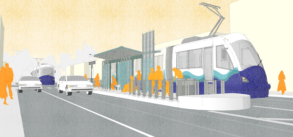Rendering of the Option A design. (Sound Transit)