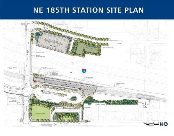 60% design site plan for 185th Street Station. (Sound Transit)