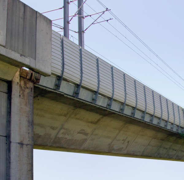 Example of the kind of aerials sound walls that are proposed to be used. (Sound Transit)