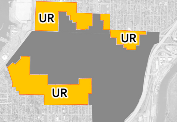 Areas recommended for Urban Residential zoning. (City of Everett)