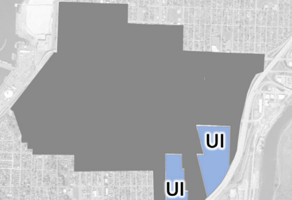 Areas recommended for Urban Industrial zoning. (City of Everett)