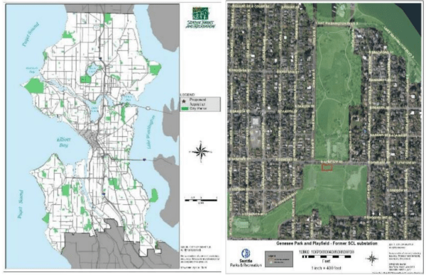Where small land swap is being made. (City of Seattle)