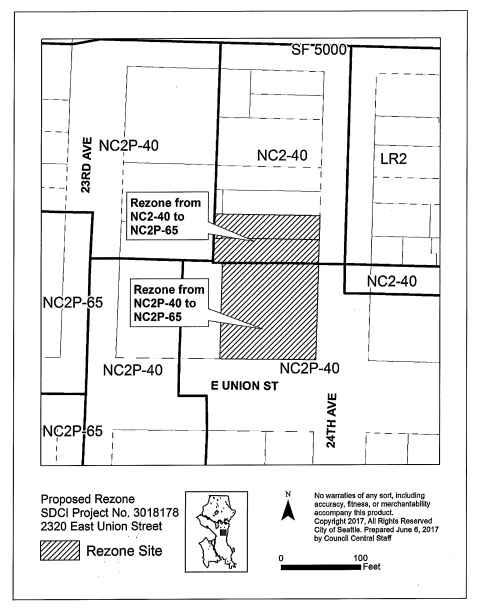 The site-specific rezone of 2320 E Union St. (City of Seattle)
