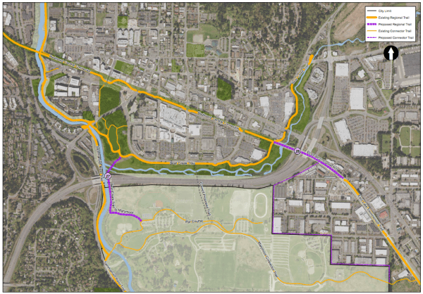 Existing and proposed trail networks in Redmond. (City of Redmond)