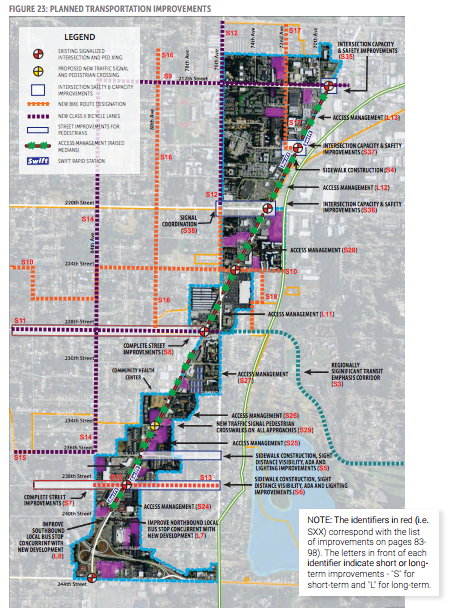 Planned transportation improvement in and near the subarea. (City of Edmonds)