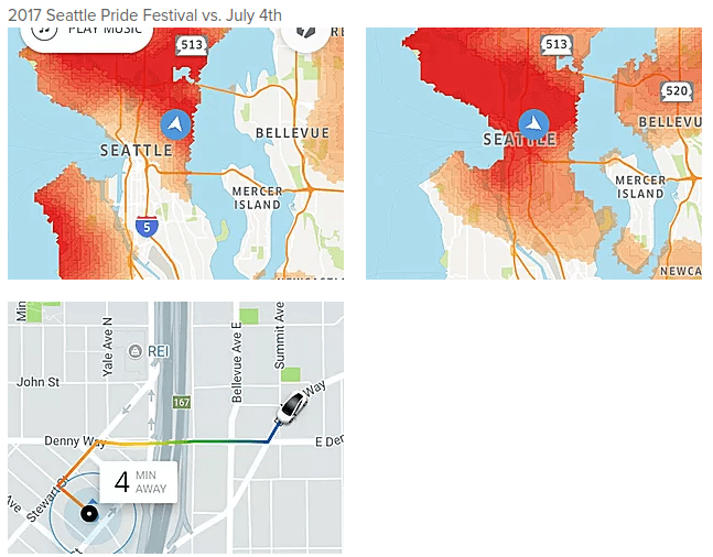 How Uber Drivers Can Help Us Plan Cities For SelfDriving Cars - Uber heat map us
