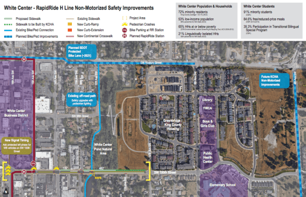 Proposed non-motorized projects to support the RapidRide H Line. (King County)