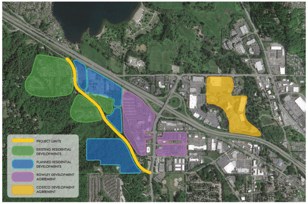 Newport Way corridor project and surrounding context. (City of Issaquah)