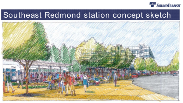 Proposed Southeast Redmond station concept sketch. (Sound Transit)