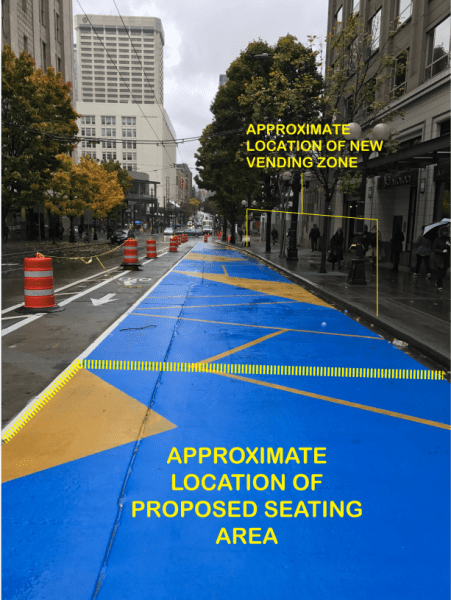 How the pavement park will be divided up. (City of Seattle)