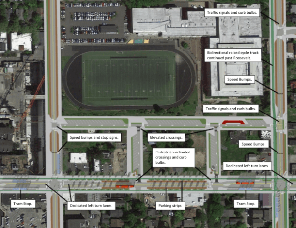 Overview of the proposal to fix NE 65th St and surrounding streets. (Joe Mangan)