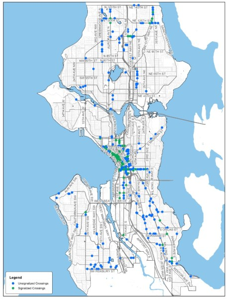 Five-year implementation of new and improved crossings. (City of Seattle)