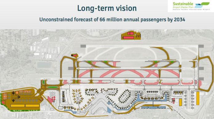 Long-term visions to sustain passenger growth through 2034. (Port of Seattle)