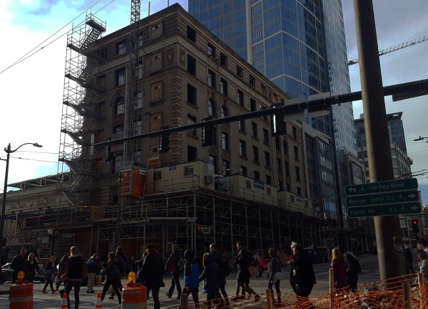 The State Hotel is currently being renovated. (Photo by author)