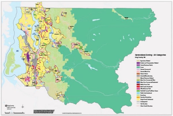 Generalized zoning in King County. (King County)