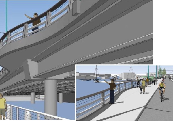 What the viewpoints and water-level walkway will look like. (City of Seattle)