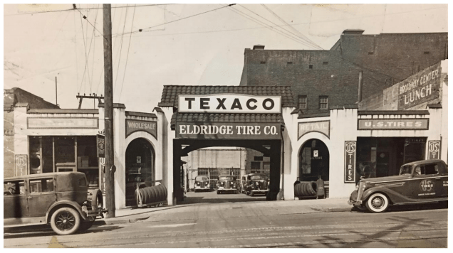 A historic photo of the Eldridge Tire Company Building. (Puget Sound Regional Archives)